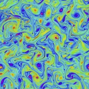 Vorticity from an MHD simulation at zero   magnetic Prandtl number